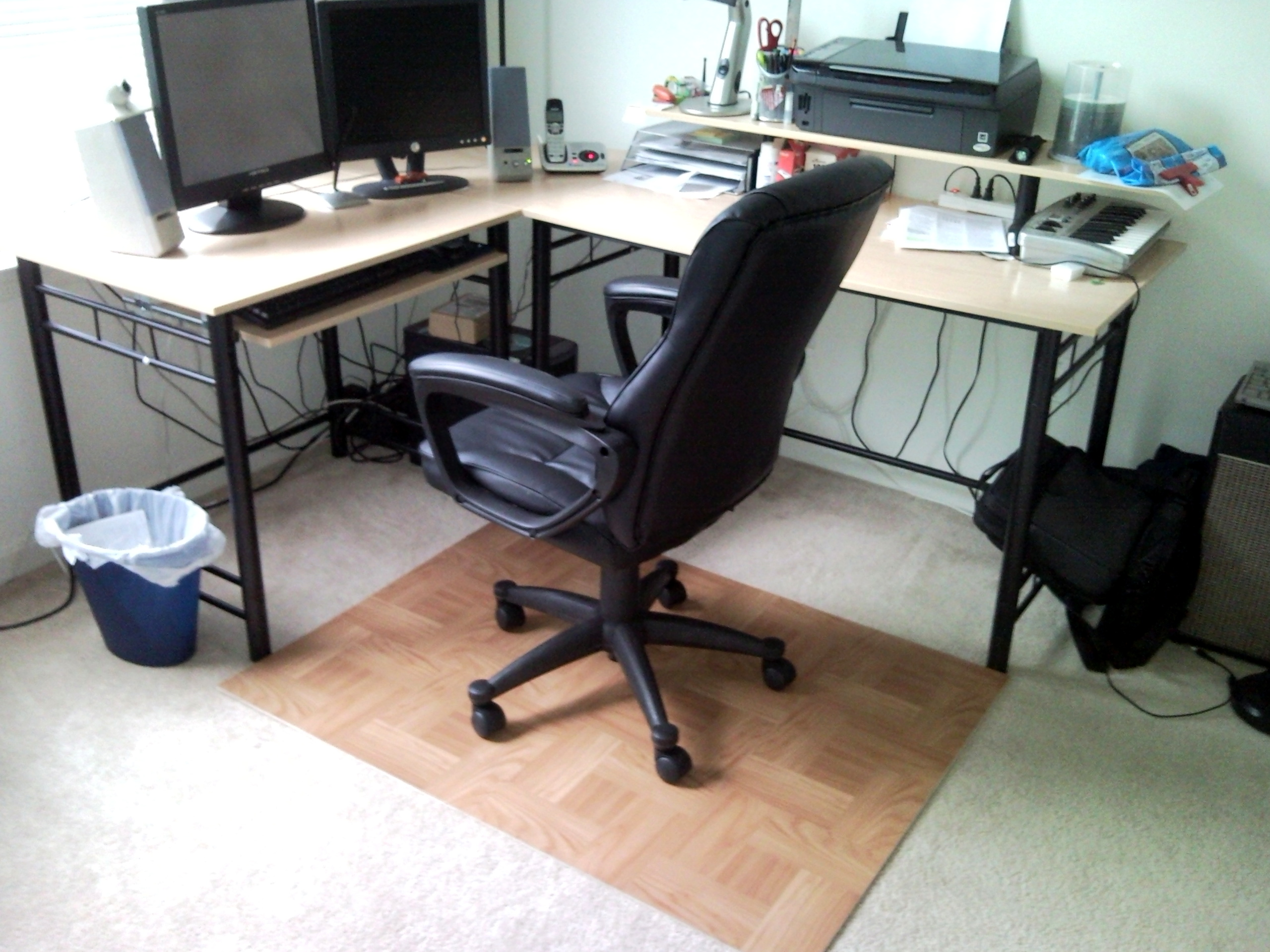 Carpet Mat For Desk Chair fake) wood desk chair carpet mat | hacked_it/hack_edit